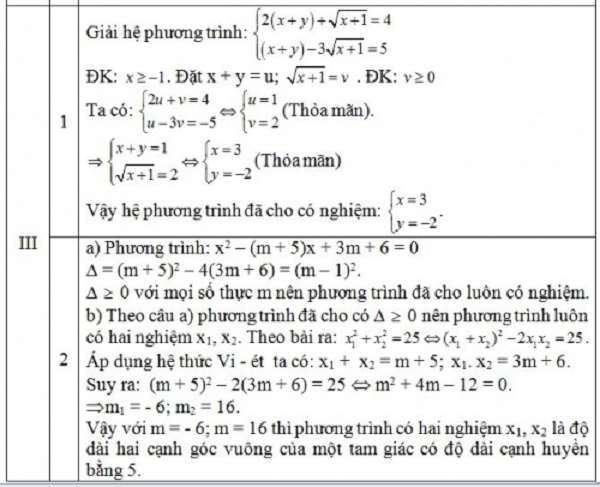 Đáp án môn Toán thi vào lớp 10 Hà Nội 2015 – 2016 câu 3