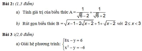 Đề thi vào lớp 10 môn toán tỉnh Cà Mau năm học 2014 - 2015