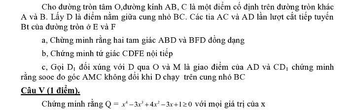 Đề thi vào lớp 10 môn Toán tỉnh Lạng Sơn năm 2012 - 2013