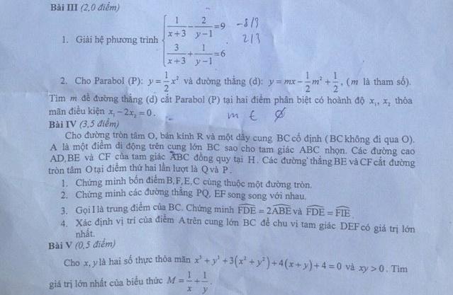 Đề thi thử vào lớp 10 môn Toán Hà Nội năm 2015 - 2016