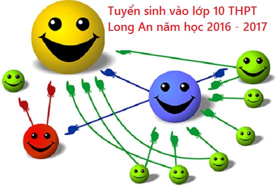 Thông tin tuyển sinh vào lớp 10 THPT tỉnh Long An năm 2016 - 2017