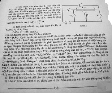 Đề thi vào lớp 10 môn Vật lý chuyên Sư Phạm Hà Nội 2016
