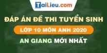 Đề thi tuyển sinh lớp 10 môn Anh 2020 tỉnh An Giang  có lời giải