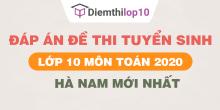 Đề thi tuyển sinh lớp 10 môn Toán 2020 tỉnh Hà Nam có lời giải