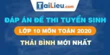 Đề thi tuyển sinh lớp 10 môn Toán 2020 tỉnh Thái Bình có lời giải