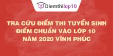 Tra cứu điểm thi tuyển sinh 2020, điểm chuẩn lớp 10 Vĩnh Phúc
