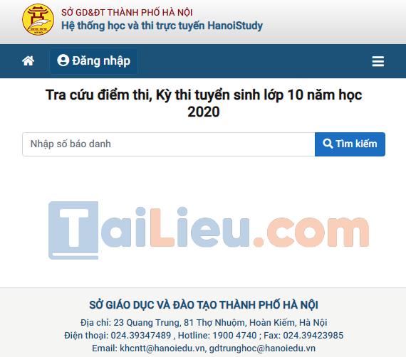 Cách biết điểm thi tuyển sinh vào lớp 10 năm 2020 Hà Nội