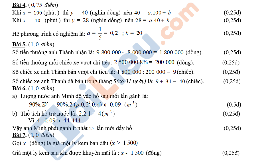 Đáp án đề toán thi vào 10 TPHCM 2020 của sở GDĐT_3