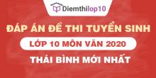 Đề thi tuyển sinh lớp 10 môn Văn 2020 tỉnh Thái Bình có lời giải