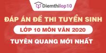 Đề thi tuyển sinh lớp 10 môn Văn 2020 tỉnh Tuyên Quang có lời giải