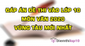 Đề thi tuyển sinh lớp 10 môn Văn 2020 tỉnh Vũng Tàu có lời giải