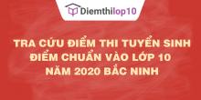 Tra cứu điểm thi tuyển sinh 2020, điểm chuẩn lớp 10 Bắc Ninh