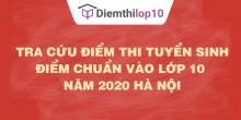 Tra cứu điểm chuẩn lớp 10 năm 2020 – 2021 Hà Nội chính xác nhất