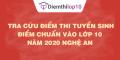 Tra cứu điểm thi tuyển sinh 2020, điểm chuẩn lớp 10 Nghệ An