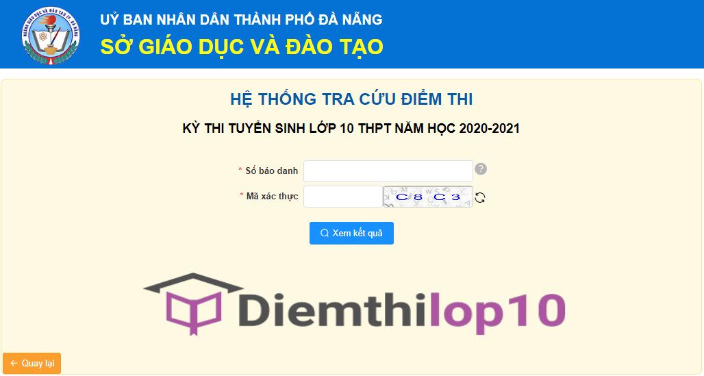 Cách tra cứu điểm thi lớp 10 năm 2020 tỉnh Đà Nẵng