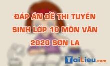 Đề thi tuyển sinh lớp 10 môn Văn 2020 tỉnh Sơn La có lời giải