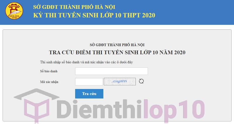 Tra cứu điểm thi tuyển sinh vào lớp 10 2020 Hà Nội