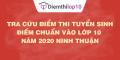 Tra cứu điểm thi tuyển sinh 2020, điểm chuẩn lớp 10 Ninh Thuận