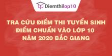 Tra cứu điểm thi tuyển sinh 2020, điểm chuẩn lớp 10 Bắc Giang