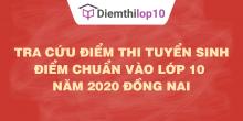 Tra cứu điểm thi tuyển sinh 2020, điểm chuẩn lớp 10 Đồng Nai