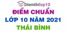 Điểm chuẩn lớp 10 năm 2021 Thái Bình công bố chính thức