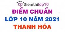 Điểm chuẩn lớp 10 năm 2021 Thanh Hóa công bố chính thức