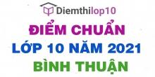 Điểm chuẩn lớp 10 năm 2021 Bình Thuận công bố chính thức