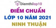 Điểm chuẩn lớp 10 năm 2021 Ninh Thuận công bố chính thức
