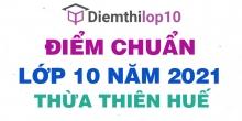 Điểm chuẩn lớp 10 năm 2021 Thừa Thiên Huế công bố chính thức