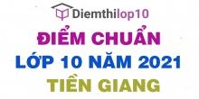 Điểm chuẩn lớp 10 năm 2021 Tiền Giang công bố chính thức