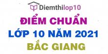Điểm chuẩn lớp 10 năm 2021 Bắc Giang công bố chính thức