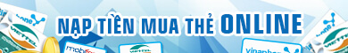 Nạp tiền online Mobifone, Vinaphone, Viettel, Vietnamobile, Beeline (Gmobile)
